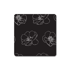 Rose Wild Seamless Pattern Flower Square Magnet