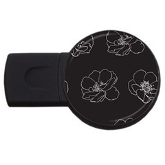 Rose Wild Seamless Pattern Flower Usb Flash Drive Round (2 Gb)