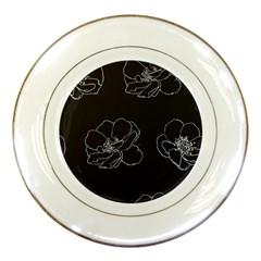 Rose Wild Seamless Pattern Flower Porcelain Plates