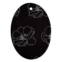 Rose Wild Seamless Pattern Flower Oval Ornament (two Sides)