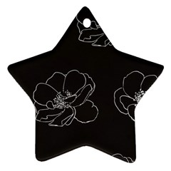 Rose Wild Seamless Pattern Flower Star Ornament (two Sides)