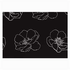 Rose Wild Seamless Pattern Flower Large Glasses Cloth (2 Side)