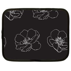 Rose Wild Seamless Pattern Flower Netbook Case (large)