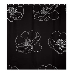 Rose Wild Seamless Pattern Flower Shower Curtain 66  x 72  (Large)