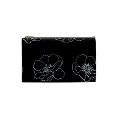 Rose Wild Seamless Pattern Flower Cosmetic Bag (small)