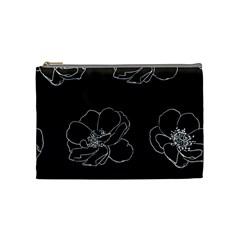 Rose Wild Seamless Pattern Flower Cosmetic Bag (medium)