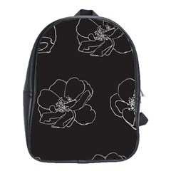 Rose Wild Seamless Pattern Flower School Bags(large)