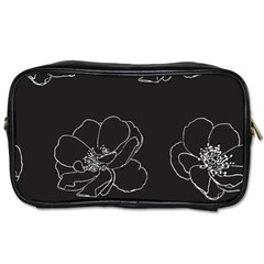 Rose Wild Seamless Pattern Flower Toiletries Bags