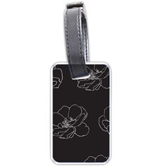 Rose Wild Seamless Pattern Flower Luggage Tags (one Side)