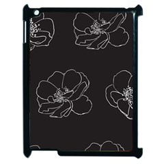 Rose Wild Seamless Pattern Flower Apple Ipad 2 Case (black)