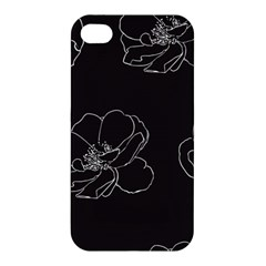 Rose Wild Seamless Pattern Flower Apple Iphone 4/4s Hardshell Case
