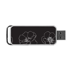 Rose Wild Seamless Pattern Flower Portable USB Flash (Two Sides)