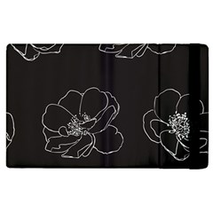 Rose Wild Seamless Pattern Flower Apple Ipad 3/4 Flip Case