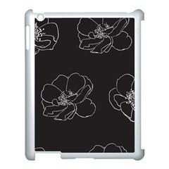 Rose Wild Seamless Pattern Flower Apple iPad 3/4 Case (White)