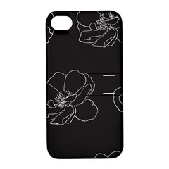 Rose Wild Seamless Pattern Flower Apple Iphone 4/4s Hardshell Case With Stand