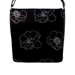 Rose Wild Seamless Pattern Flower Flap Messenger Bag (l)
