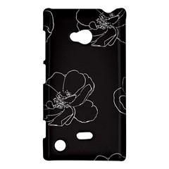 Rose Wild Seamless Pattern Flower Nokia Lumia 720