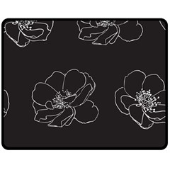 Rose Wild Seamless Pattern Flower Double Sided Fleece Blanket (Medium)