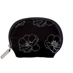 Rose Wild Seamless Pattern Flower Accessory Pouches (Small)