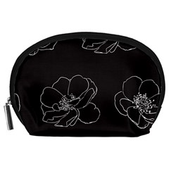 Rose Wild Seamless Pattern Flower Accessory Pouches (large)