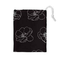 Rose Wild Seamless Pattern Flower Drawstring Pouches (Large)