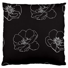 Rose Wild Seamless Pattern Flower Large Flano Cushion Case (two Sides)