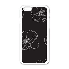 Rose Wild Seamless Pattern Flower Apple iPhone 6/6S White Enamel Case