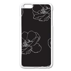 Rose Wild Seamless Pattern Flower Apple iPhone 6 Plus/6S Plus Enamel White Case