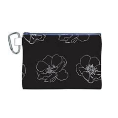 Rose Wild Seamless Pattern Flower Canvas Cosmetic Bag (M)