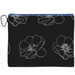 Rose Wild Seamless Pattern Flower Canvas Cosmetic Bag (XXXL)
