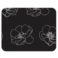 Rose Wild Seamless Pattern Flower Double Sided Flano Blanket (Medium)
