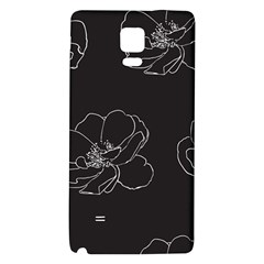 Rose Wild Seamless Pattern Flower Galaxy Note 4 Back Case