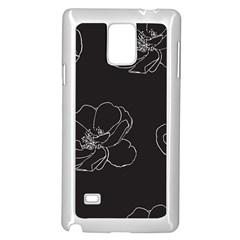 Rose Wild Seamless Pattern Flower Samsung Galaxy Note 4 Case (white)