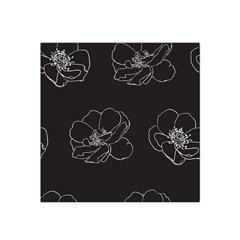 Rose Wild Seamless Pattern Flower Satin Bandana Scarf