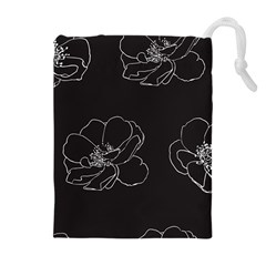 Rose Wild Seamless Pattern Flower Drawstring Pouches (Extra Large)