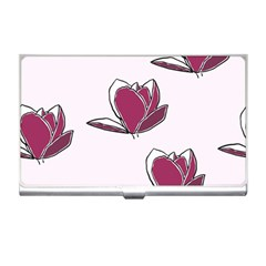 Magnolia Seamless Pattern Flower Business Card Holders