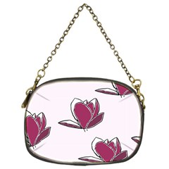 Magnolia Seamless Pattern Flower Chain Purses (one Side)