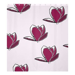 Magnolia Seamless Pattern Flower Shower Curtain 66  X 72  (large)