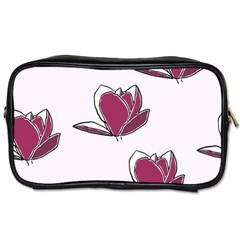 Magnolia Seamless Pattern Flower Toiletries Bags