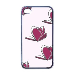 Magnolia Seamless Pattern Flower Apple Iphone 4 Case (black)