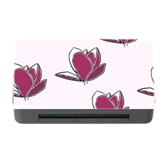 Magnolia Seamless Pattern Flower Memory Card Reader With Cf