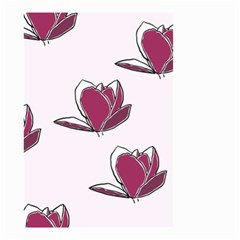 Magnolia Seamless Pattern Flower Small Garden Flag (two Sides)