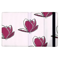 Magnolia Seamless Pattern Flower Apple Ipad 2 Flip Case
