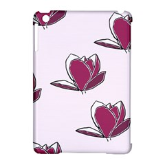 Magnolia Seamless Pattern Flower Apple Ipad Mini Hardshell Case (compatible With Smart Cover)
