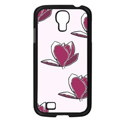 Magnolia Seamless Pattern Flower Samsung Galaxy S4 I9500/ I9505 Case (Black)