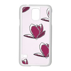 Magnolia Seamless Pattern Flower Samsung Galaxy S5 Case (white)