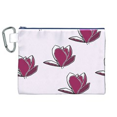 Magnolia Seamless Pattern Flower Canvas Cosmetic Bag (xl)