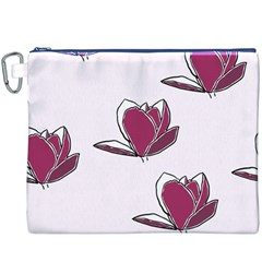 Magnolia Seamless Pattern Flower Canvas Cosmetic Bag (xxxl)