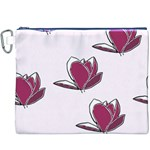 Magnolia Seamless Pattern Flower Canvas Cosmetic Bag (XXXL) Front