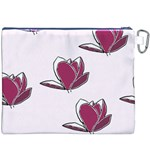 Magnolia Seamless Pattern Flower Canvas Cosmetic Bag (XXXL) Back